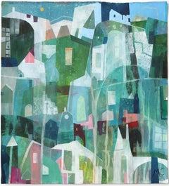 Blue Malibu - Original Raw Canvas Artwork