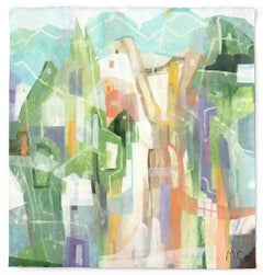 Blue Mountains  -  Original Abstracted Cityscape Artwork on Canvas