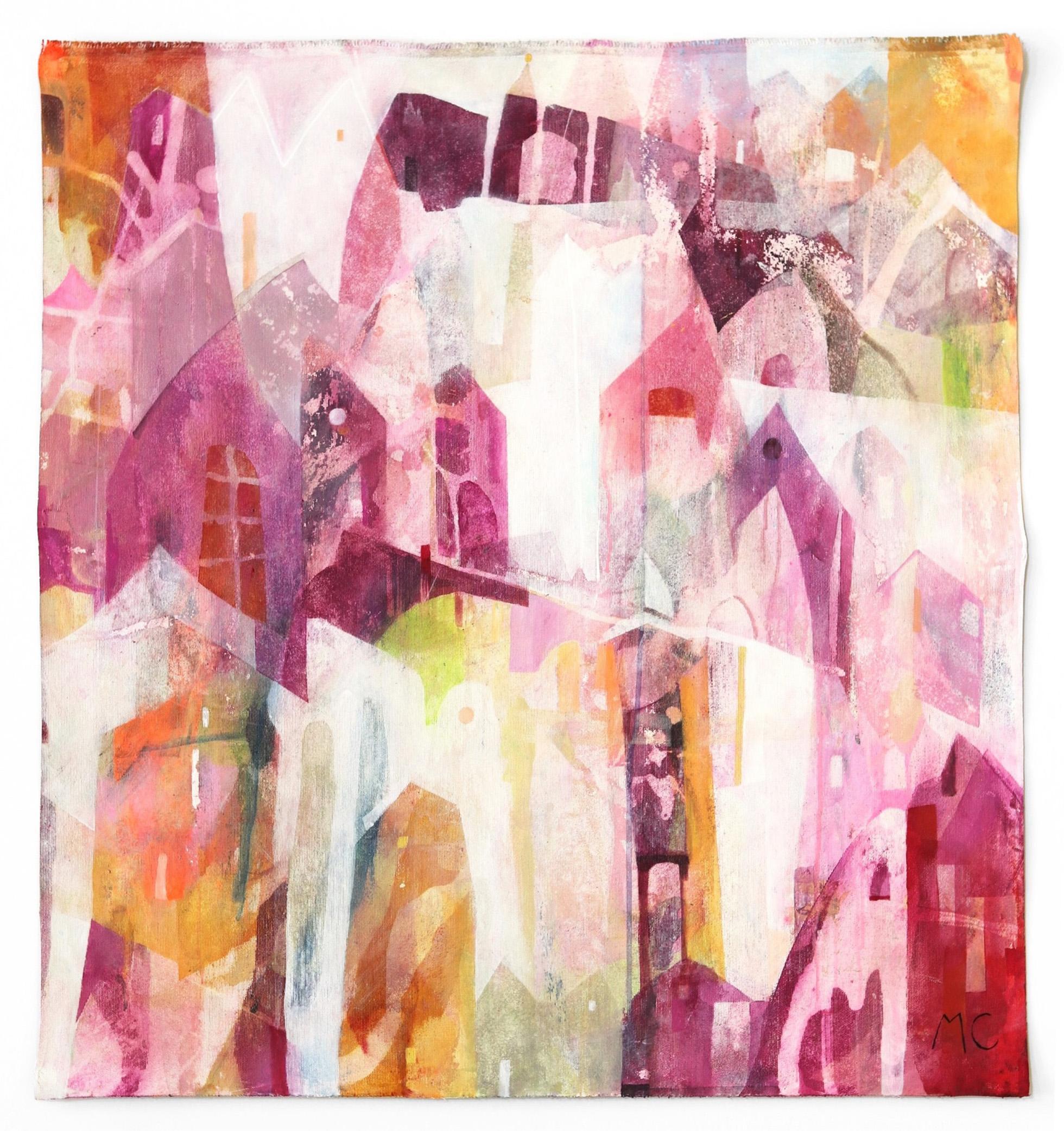 Cherish - Original Abstracted Cityscape Artwork on Canvas