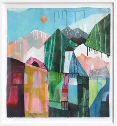 Colors of Los Angeles - Original Canvas Artwork (Framed)