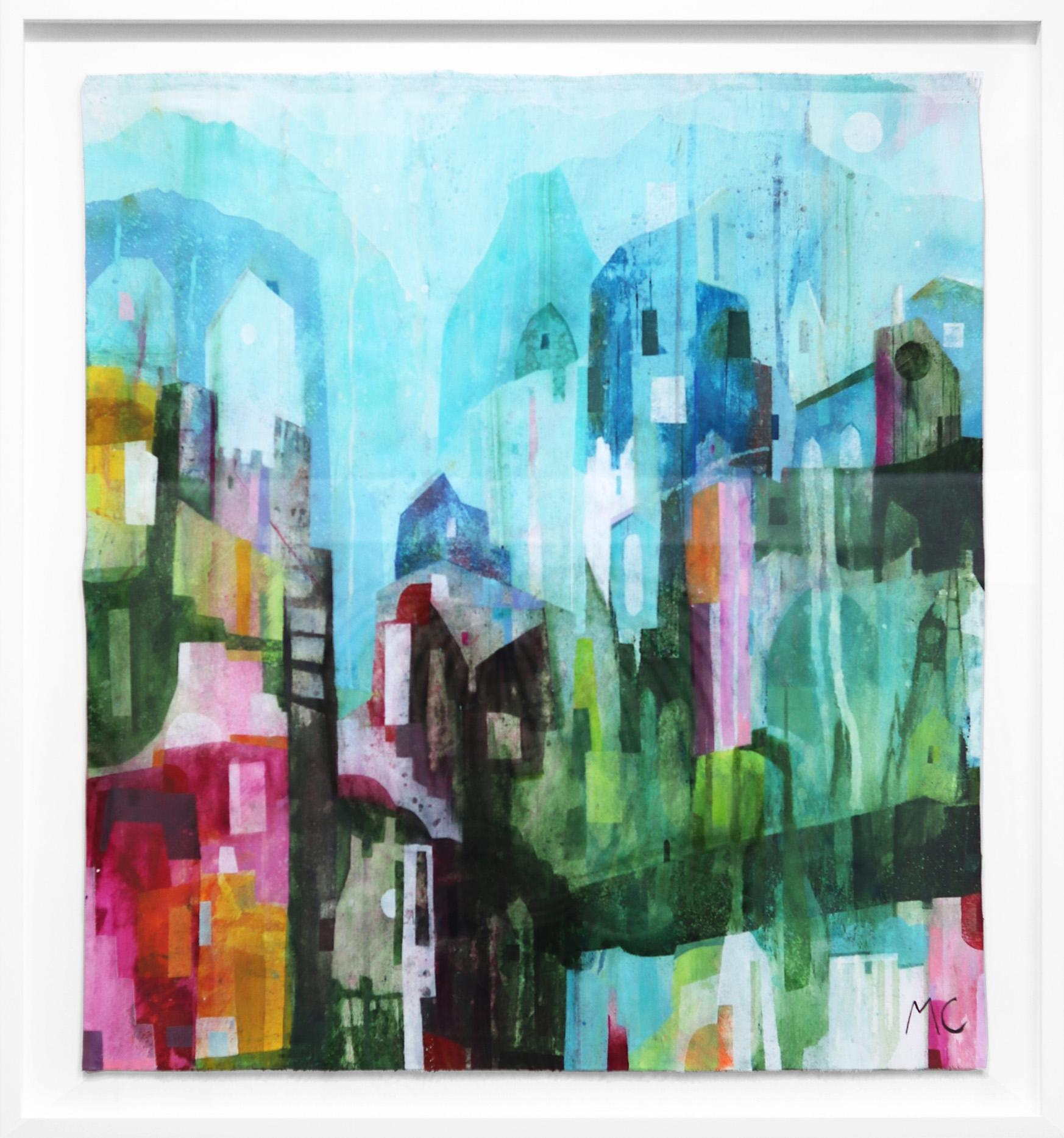 Down Town - Original Canvas Artwork (Framed)