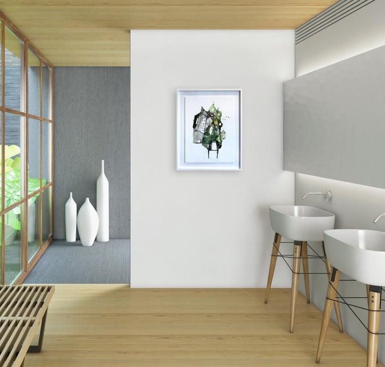 Green House - Original Watercolor Artwork (Framed) - Painting by Maria C. Bernhardsson