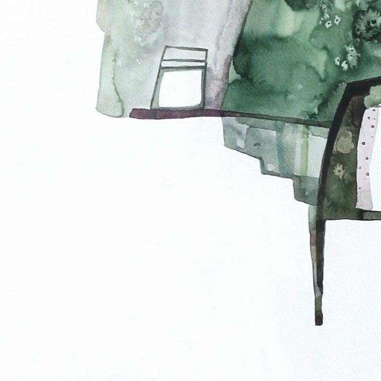 Green House - Original Watercolor Artwork (Framed) For Sale 2