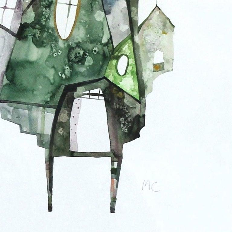 Green House - Original Watercolor Artwork (Framed) For Sale 3