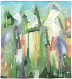 Green Valley - Original Raw Canvas Artwork