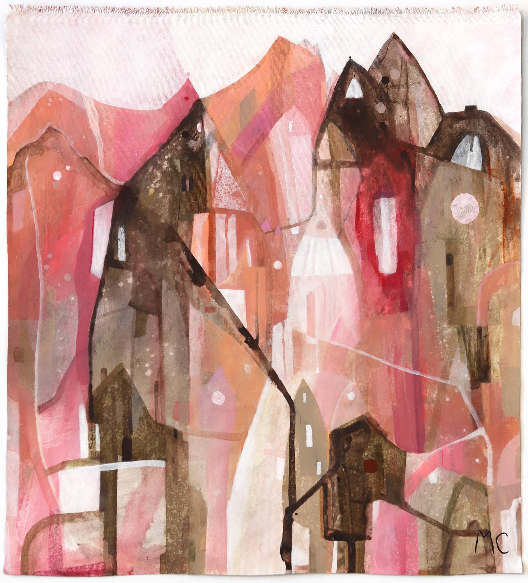 Pink - Original Raw Canvas Artwork