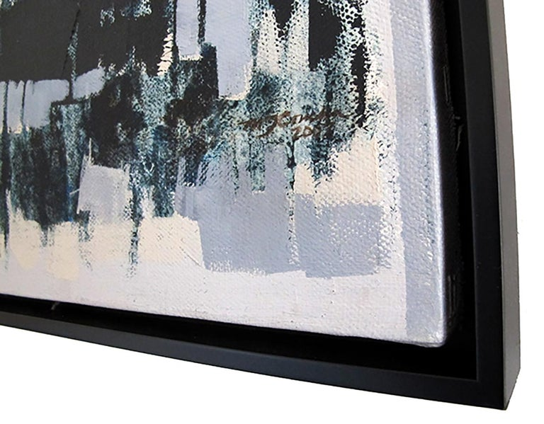Horizontes I, abstract landscape painting, contemporary framed - oil on canvas - Abstract Painting by Maria Jose Concha