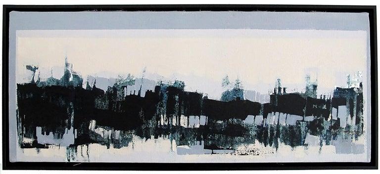Maria Jose Concha Landscape Painting - Horizontes I, abstract landscape painting, contemporary framed - oil on canvas
