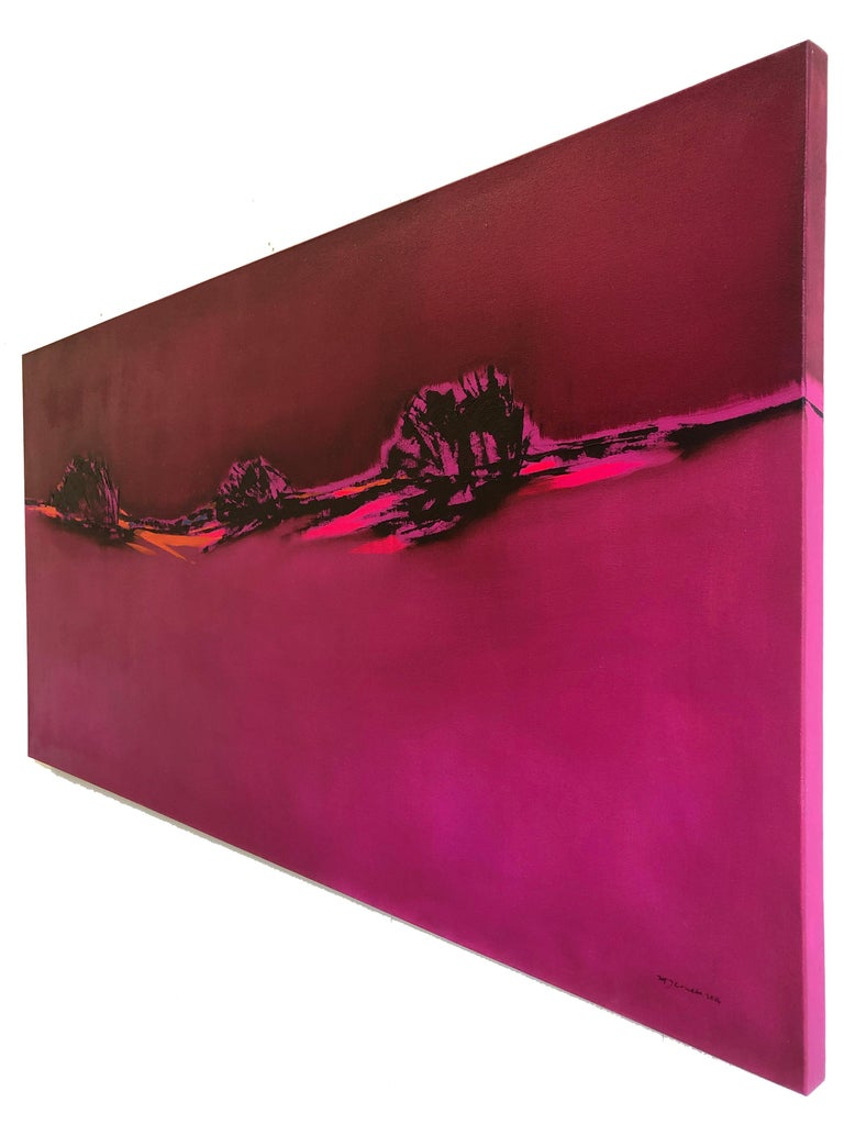 Maria Jose Concha lived for 7 years in the Chilean Patagonia, the world's southernmost landscape, an experience, which transformed her work and becomes the focus of her expressive painting. Concha's work takes those typical phenomena of the