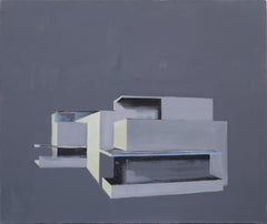 Bauhaus without Windows - Modern Architectural Painting, Modernism Painting