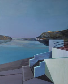 North - Modern Architectural Painting, Modernism, Sea View, Large Format