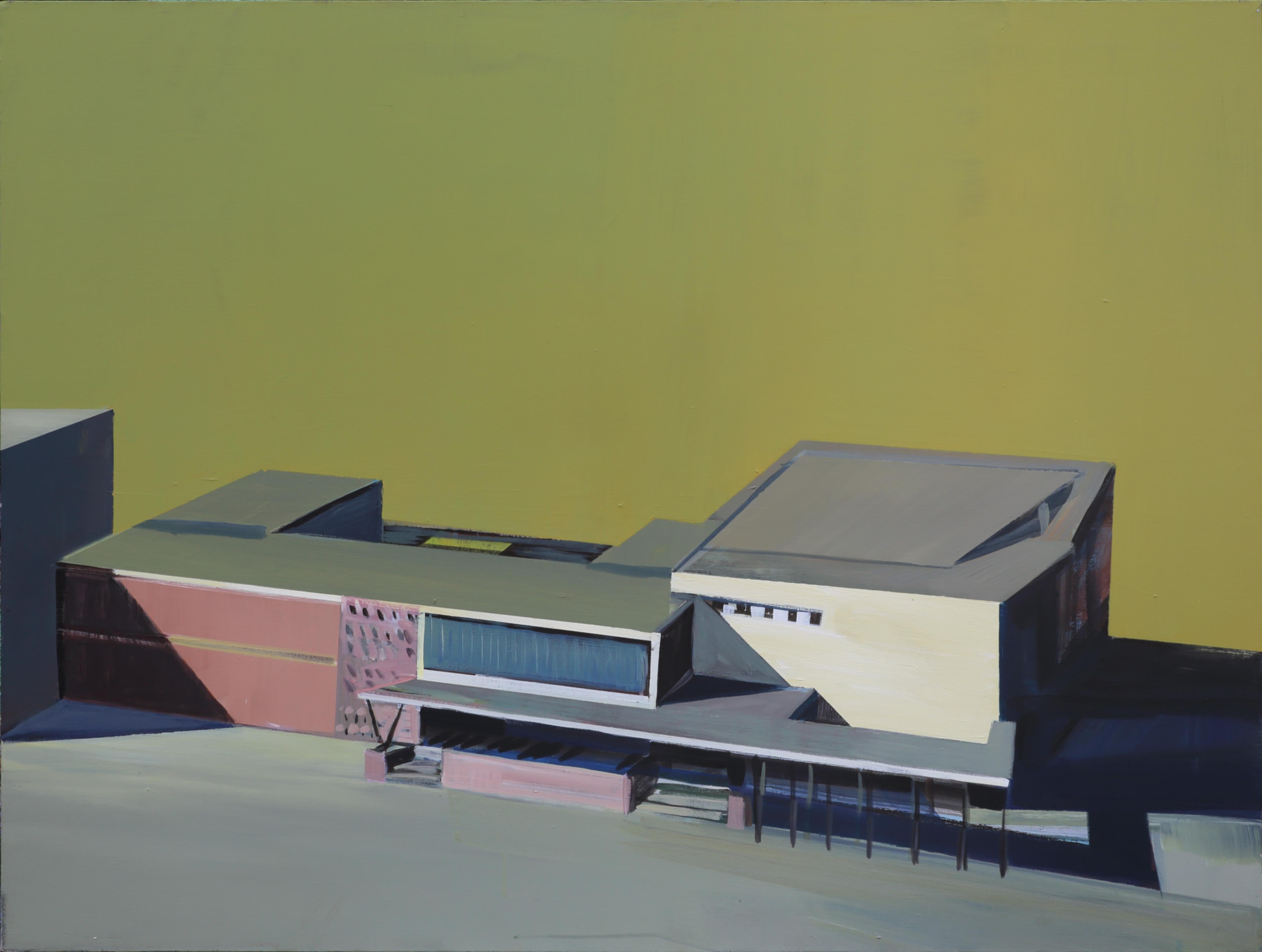 School - Modern Architectural Painting, Modernism Painting, Architecture Art