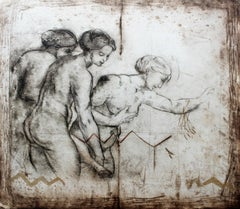 The Three Graces - Contemporary art, Figurative print, Old masters inspired