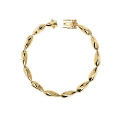 Maria Kotsoni Contemporary 18K Yellow Gold, Articulated Spike Link Bracelet