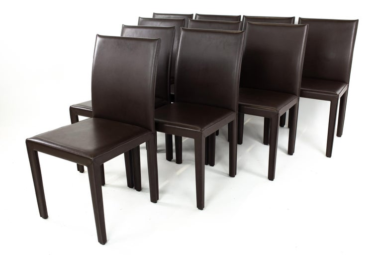 Other Maria Lee Leather Dining Chairs, Set of 10 For Sale