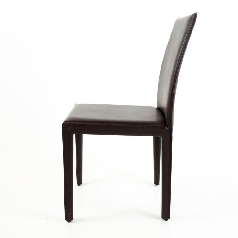 Maria Lee Leather Dining Chairs, Set of 10 For Sale 1