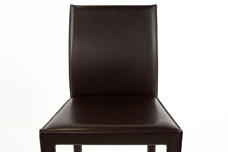 Maria Lee Leather Dining Chairs, Set of 10 For Sale 2