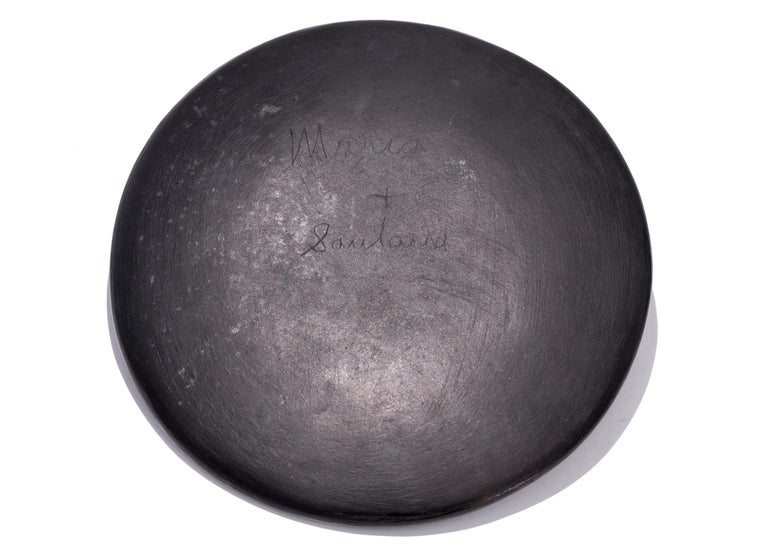 Glazed Maria Martinez, San Ildefonso Pueblo Pottery Plate, Signed