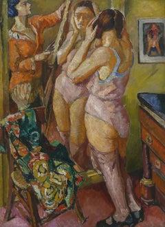 Model by the Mirror / Portrait of a Man - Polish Art Ecole de Paris 20s