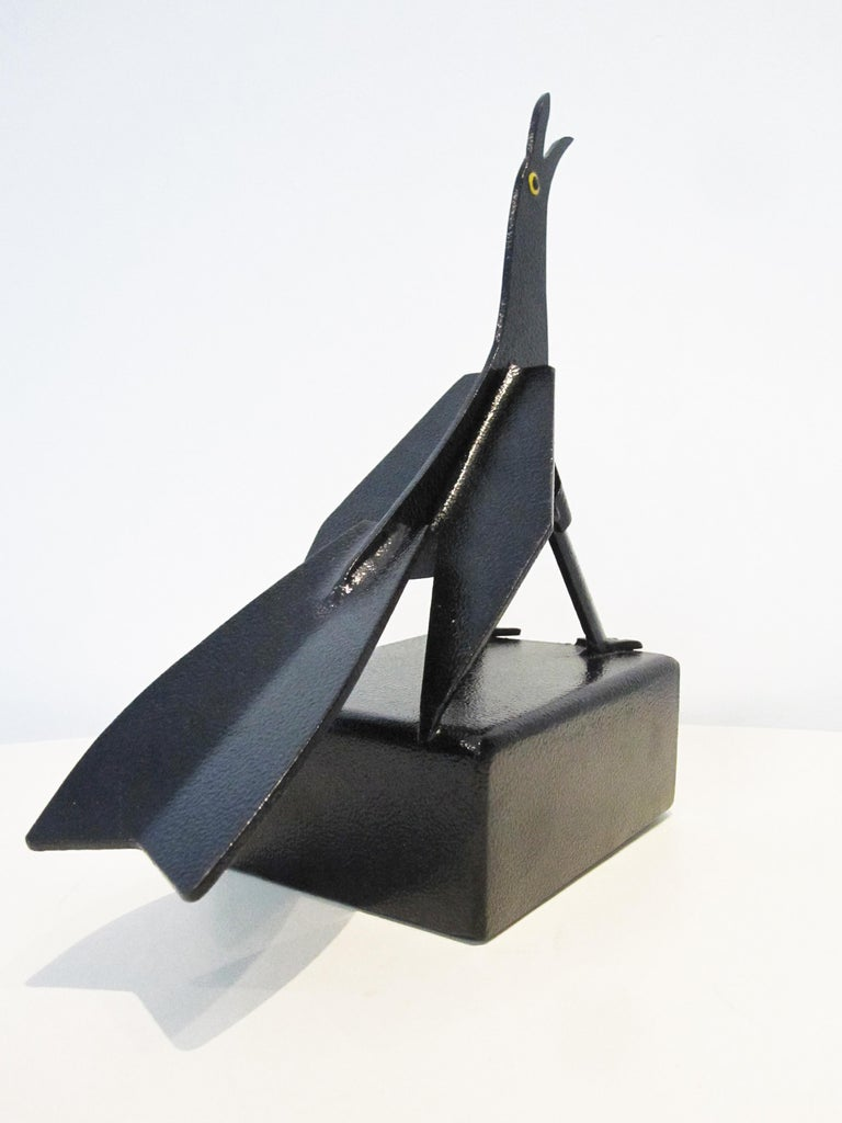 Contemporary Maria Mulata Metal Sheet black Sculpture For Sale