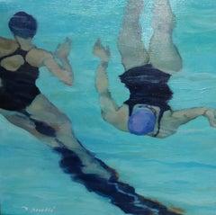 """SINCRO IV"" original expressionist oil canvas painting"