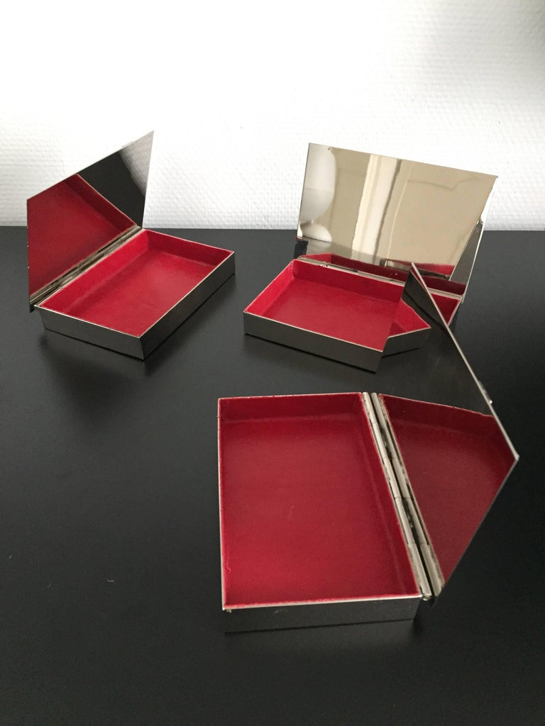 French Maria Pergay Buckle Boxes For Sale