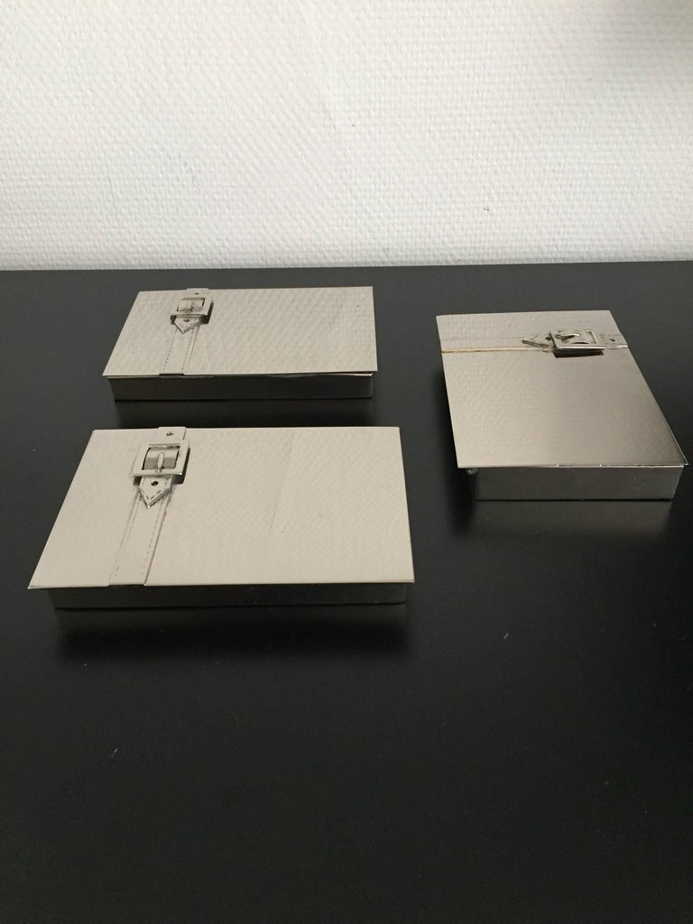 Maria Pergay Buckle Boxes For Sale 1
