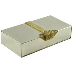 Maria Pergay Style Stainless Steel and Brass Box