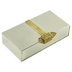 Maria Pergay Style Stainless Steel Brass Game Box