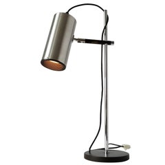 Maria Pergay Table Lamp with Stainless Steel  Shade, 1968 , France