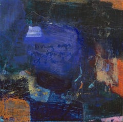 Maria Pierides, History Maps, Original Abstract Painting, Mixed Media Art