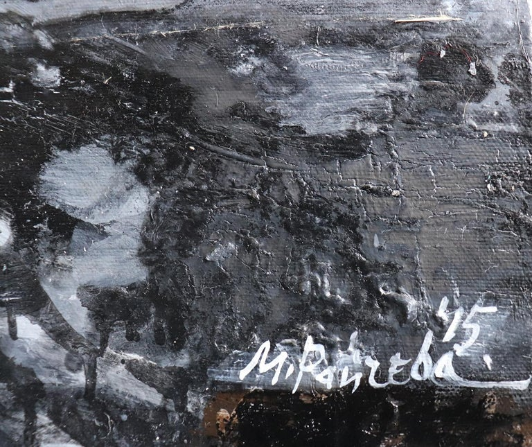 Coast - Black Landscape Painting by Maria Raycheva