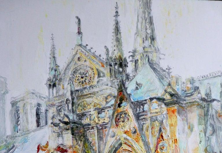 Notre Dame De Paris  - Painting by Maria Raycheva