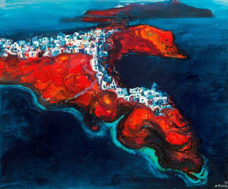 Maria Raycheva Landscape Painting - Santorini II