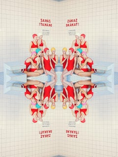 Symmetry II- Vertical white and red photo by Maria Svarbova