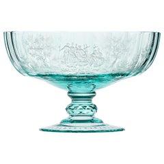 Maria Theresa Bowl Hand Engraved Watteau Motif Beryl