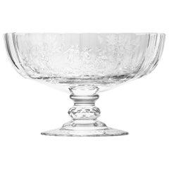 Maria Theresa Bowl Hand Engraved Watteau Motif Clear