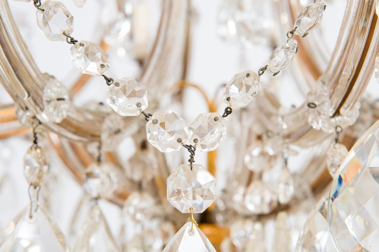 Maria Theresa Chandelier in Transparent Murano Glass, Italy, 1930s In Excellent Condition For Sale In Villaverla, IT