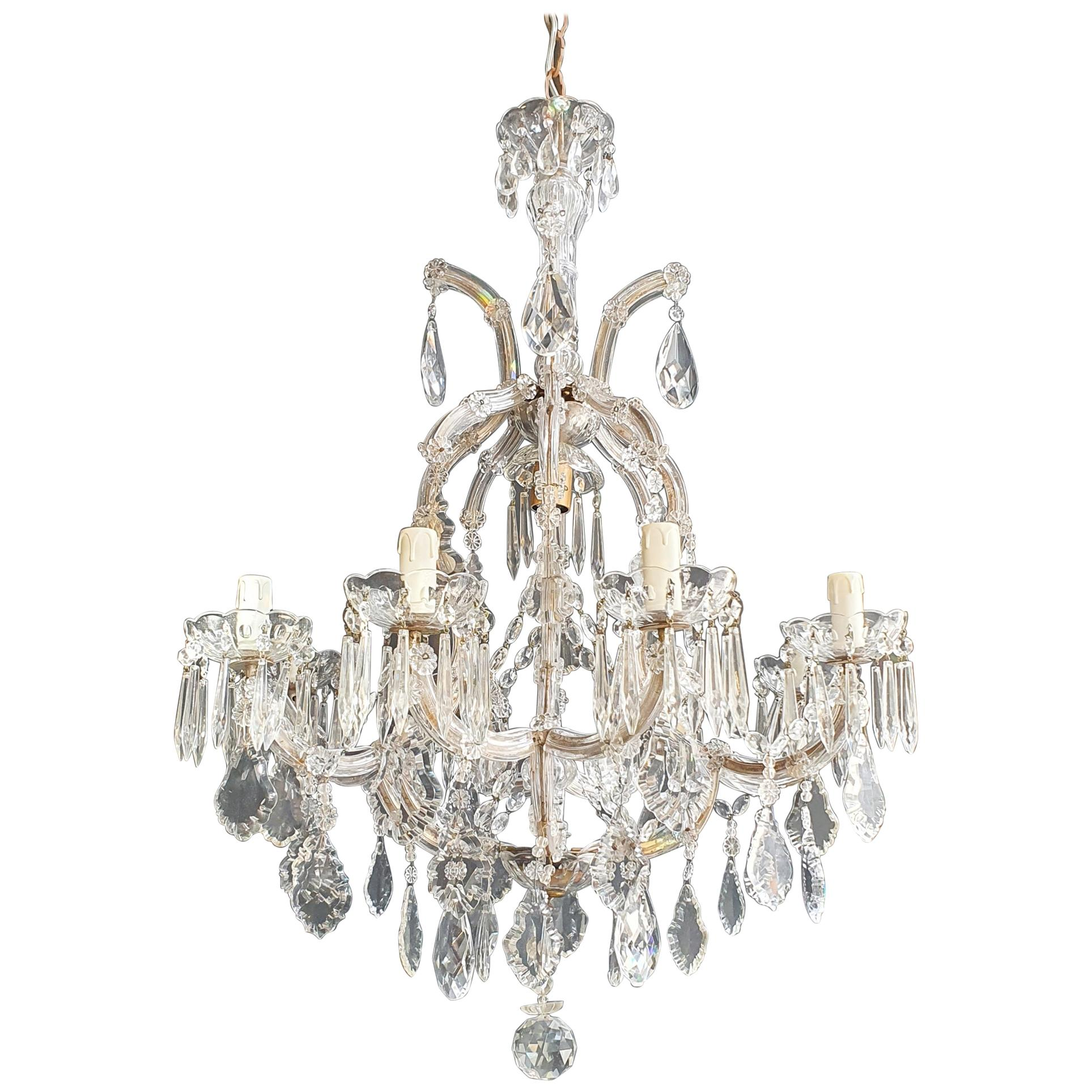 Maria Theresa Crystal Chandelier Antique Ceiling Lamp Luster Art Nouveau