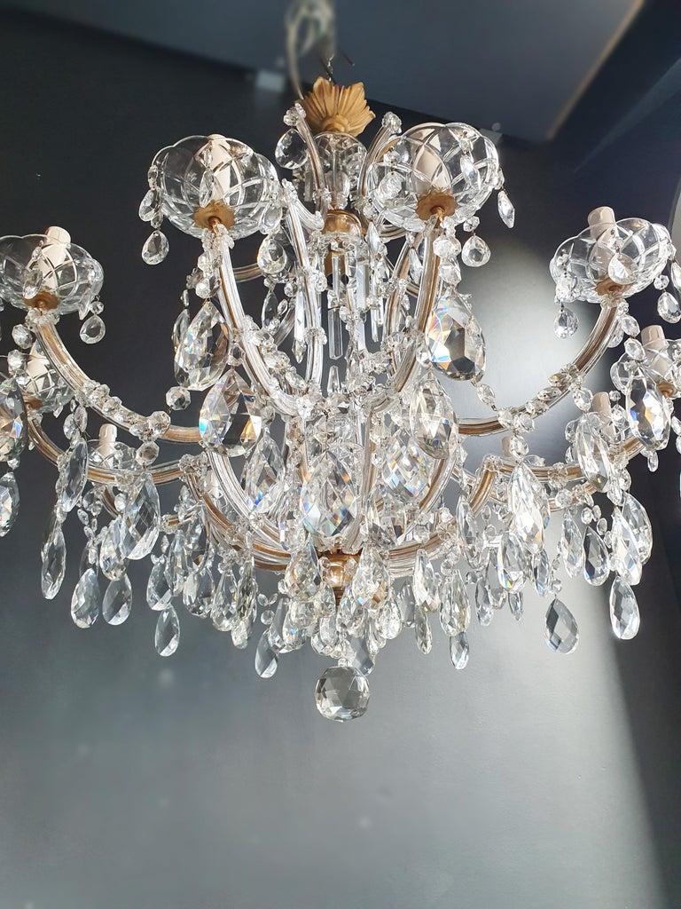 Maria Theresa Crystal Chandelier Antique Ceiling Lamp Lustre Art Nouveau For Sale 2