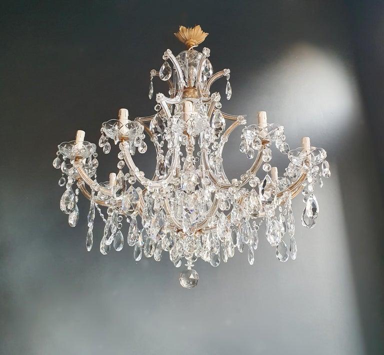 Baroque Maria Theresa Crystal Chandelier Antique Ceiling Lamp Lustre Art Nouveau For Sale