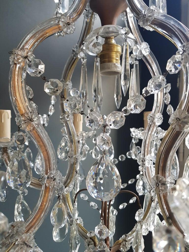 European Maria Theresa Crystal Chandelier Antique Ceiling Lamp Lustre Art Nouveau For Sale