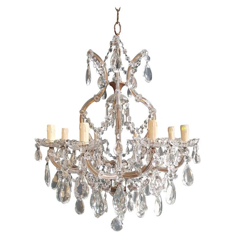 Maria Theresa Crystal Chandelier Antique Ceiling Lamp Lustre Art Nouveau For Sale