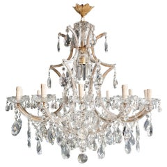Maria Theresa Crystal Chandelier Antique Ceiling Lamp Lustre Art Nouveau