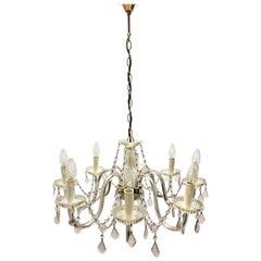Maria Theresa Crystal Chandelier with Eight Lights, 1960s, Austria