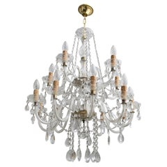 Maria Theresa Mid-Century Modern Italian 15-Light Crystal Chandelier, 1950s