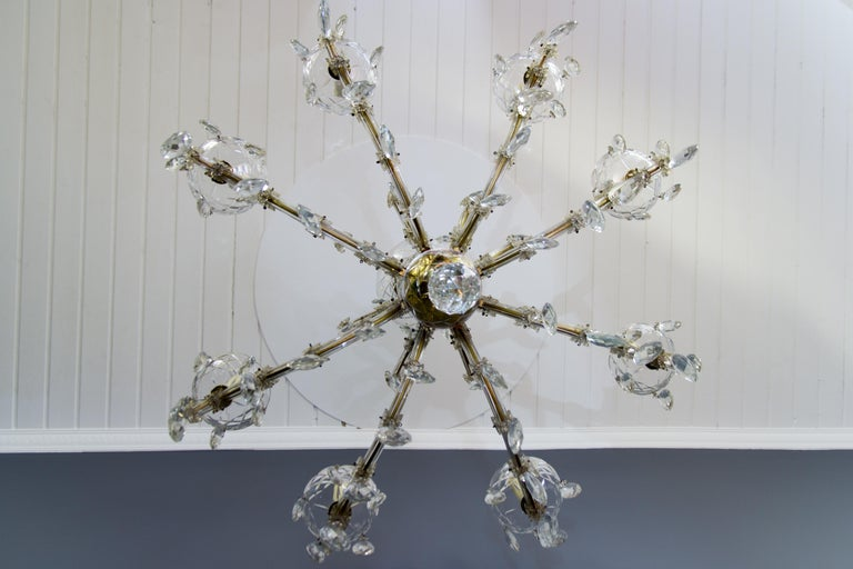 Maria Theresa Style Eight-Light Crystal Chandelier For Sale 4