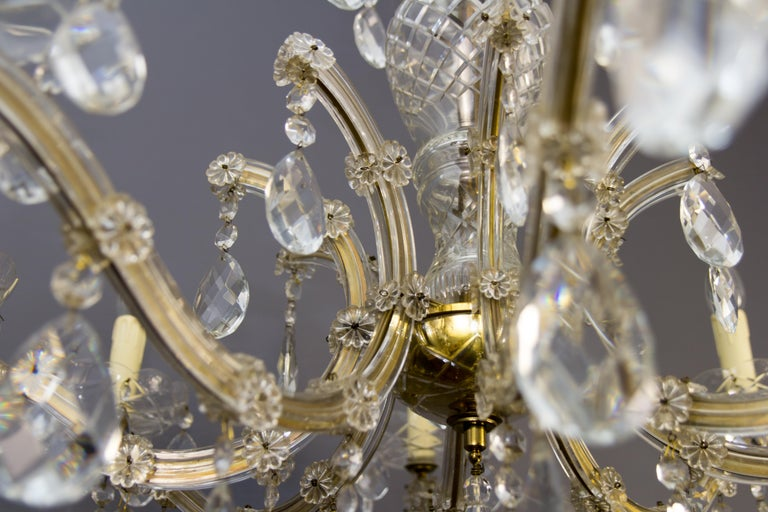 Maria Theresa Style Eight-Light Crystal Chandelier For Sale 5