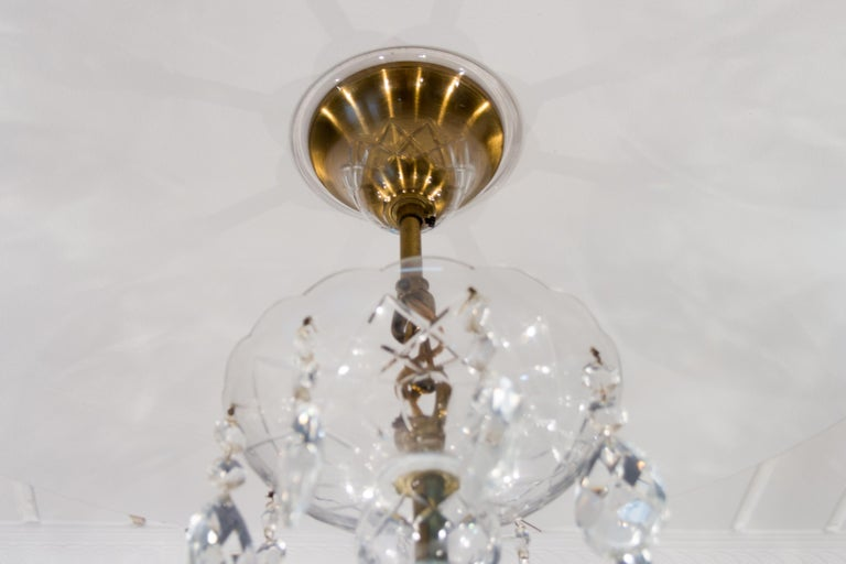 Maria Theresa Style Eight-Light Crystal Chandelier For Sale 10