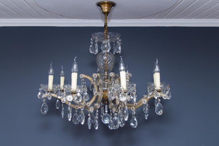 Maria Theresa Style Eight-Light Crystal Chandelier For Sale 11